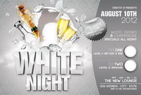 Дизайн флайера White Night Free PSD